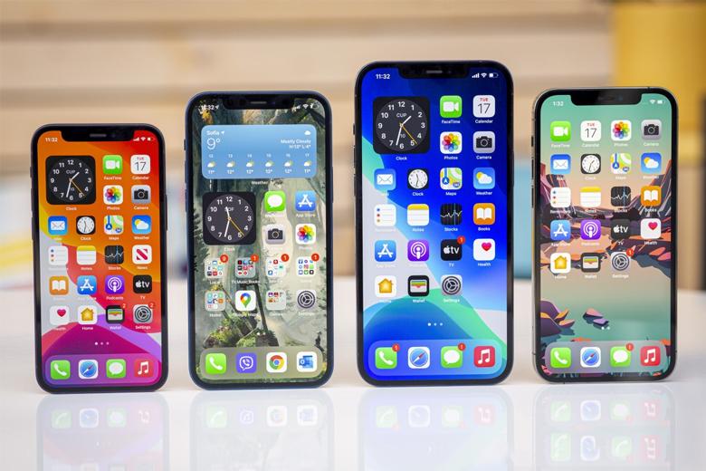 Màn hình iPhone 12 series đều được sửu dụng tấm nền cao cấp OLED