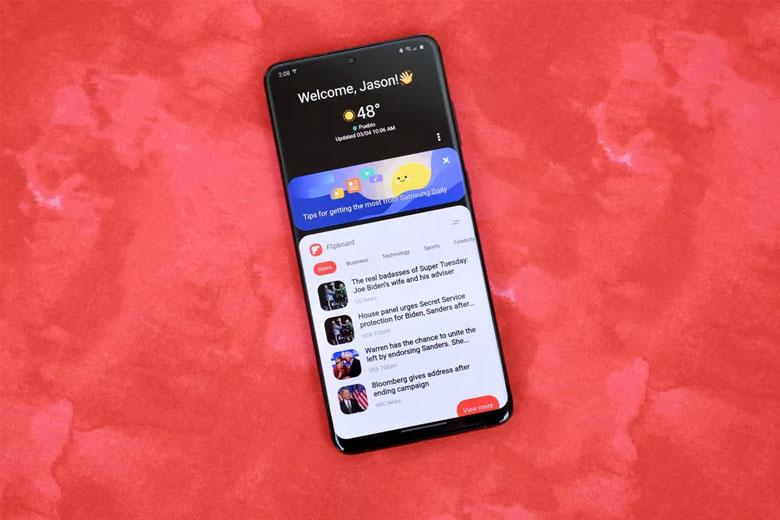 Điện thoại Galaxy S20 sở hữu màn hình AMOLED có kích thước 6,2 inch