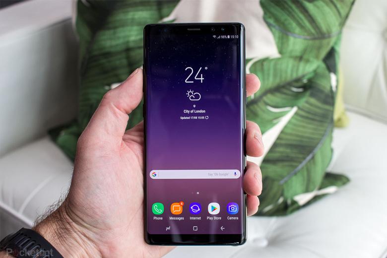 Màn hình cong tràn trên Galaxy Note 8 được đánh giá khá cao
