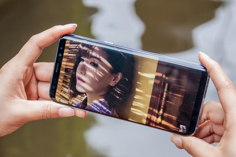 Màn hình của Samsung Galaxy S8 Plus Likenew (Hàn Quốc) được bảo vệ bởi lớp kính cường lực Corning Gorilla Glass 5