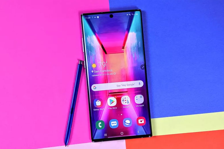 Galaxy Note 10 Plus 256GB New Nobox Mỹ sử dụng con chip Snapdragon 855