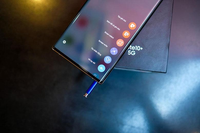 Trên Galaxy Note 10 Plus 5G bản Hàn, bút S-Pen đã được bổ sung kết nối Bluetooth