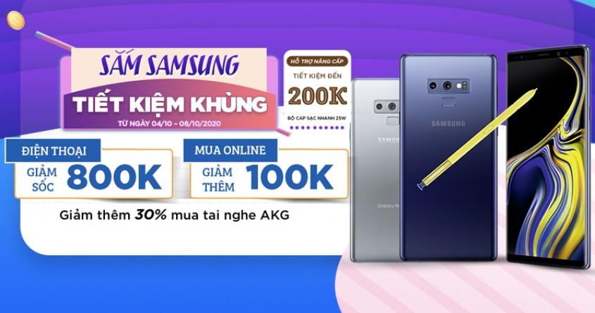 Sắm Samsung - Tiết kiệm khủng: Mua Galaxy Note 9 ưu đãi đến 1.2 triệu
