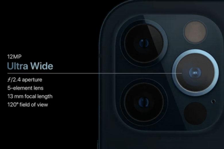 camera iPhone 12 Pro còn được thiết lập máy quét LiDAR