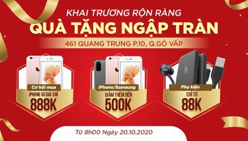 Khai trương XTsmart Gò Vấp: Mua iPhone 6s giá 888 ngàn, iPhone - Samsung giảm thêm đến 500K