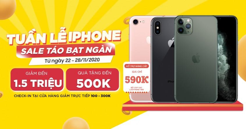 Tuần lễ vàng - Sale táo bạt ngàn: Mua iPhone 11 Pro, iPhone X và iPhone 7 giảm đến 1.5 triệu