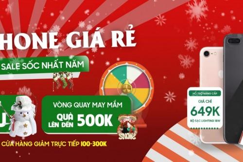 Săn iPhone giá rẻ - Checkin mừng giáng sinh: Giảm sập sàn hơn 1 triệu đồng