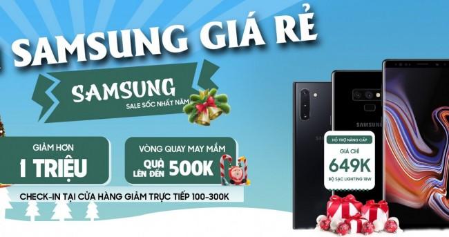 Săn Samsung giá rẻ - Checkin quà bao la: Mua điện thoại giảm đến 1.1 triệu đồng